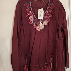 NWT Johnny Was long sleeve top